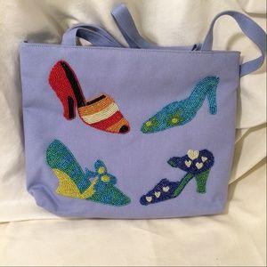 VINTAGE purse with beaded High Heels (114) NWOT